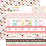 Sweet Baby Girl: Border Strips 12x12 Patterned Paper