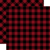 Tartan No. 2: Red Buffalo 12x12 Patterned Paper