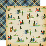 The Great Outdoors: Let's Camp 12x12 Patterned Paper
