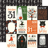 Trick or Treat: 3x4 Journaling Cards 12x12 Patterned Paper