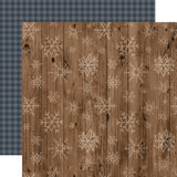 Warm & Cozy: Wooden Snowflakes 12x12 Patterned Paper