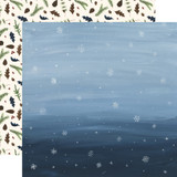 Warm & Cozy: Snowy Sky 12x12 Patterned Paper