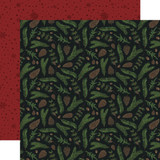 Warm & Cozy: Pine Boughs 12x12 Patterned Paper