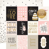 Wedding Bliss: 3x4 Journaling Cards 12x12 Patterned Paper