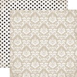 Wedding Bliss: Dearly Beloved Damask 12x12 Patterned Paper