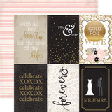 Wedding Bliss: 4x6 Journaling Cards 12x12 Patterned Paper