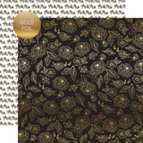 Wedding Day: Gold Floral - Gold Foiled 12x12 Patterned Paper