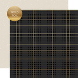 Wedding Day: I Do Plaid - Gold Foiled 12x12 Patterned Paper