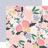 You & Me: I Love Us Floral 12x12 Patterned Paper
