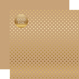 Dots & Stripes: Gold Foil Tan