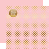 Dots & Stripes: Gold Foil Lt. Pink