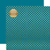 Dots & Stripes: Gold Foil Blue
