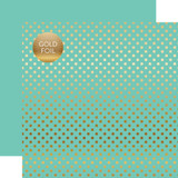 Dots & Stripes: Gold Foil Mint