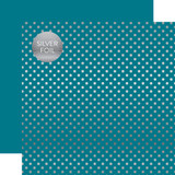 Dots & Stripes: Silver Foil Blue