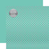 Dots & Stripes: Silver Foil Mint
