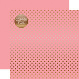 Dots & Stripes: Copper Foil Pink