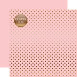 Dots & Stripes: Copper Foil Lt. Pink