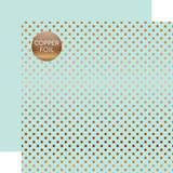 Dots & Stripes: Copper Foil Lt. Mint
