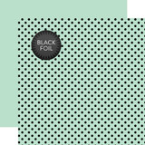 Dots & Stripes: Black Foil Dot - Mint