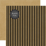 Dots & Stripes: Black Foil Stripe - Kraft