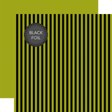 Dots & Stripes: Black Foil Stripe - Green