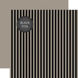 Dots & Stripes: Black Foil Stripe - Gray