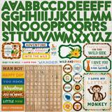 Jungle Safari: Alpha Sticker Sheet
