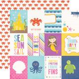 Let's Be Mermaids: 3x4 Journaling Cards