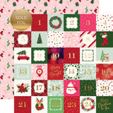 Merry & Bright: 2X2 Journaling Cards - Gold Foiled