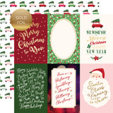 Merry & Bright: 4X6 Journaling Cards - Gold Foiled