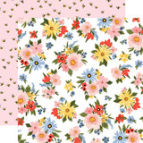 Oh Happy Day: Lovely Floral 12x12 Patterned Paper