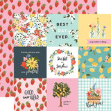 Oh Happy Day: 4X4 Journaling Cards 12x12 Patterned Paper