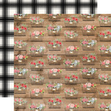 Farmhouse Market: Baskets 12x12 Patterned Paper