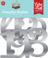 Remember the Magic: Silver Foil Decorative Numbers