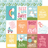 All Girl: 3X4 Journaling Cards 12x12 Patterned Paper