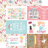 All Girl: 4X6 Journaling Cards 12x12 Patterned Paper