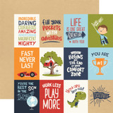 All Boy: 3X4 Journaling Cards 12x12 Patterned Paper