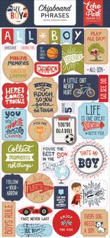 All Boy: Chipboard Phrases