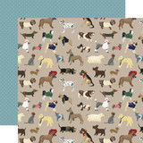 A Dog's Tail: Man's Best Friend 12x12 Patterned Paper