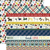 A Dog's Tail: Border Strips 12x12 Patterned Paper