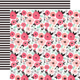 Fashionista: Fashionista Floral 12x12 Patterned Paper