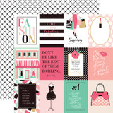 Fashionista: 3x4 Journaling Cards 12x12 Patterned Paper