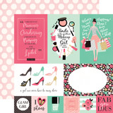 Fashionista: Multi Journaling Cards 12x12 Patterned Paper