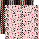 Fashionista: Makeup Time 12x12 Patterned Paper