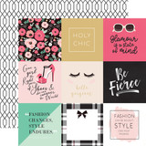 Fashionista: 4x4 Journaling Cards 12x12 Patterned Paper