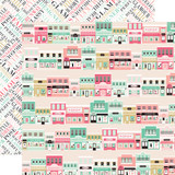 Fashionista: Main Street Shopping 12x12 Patterned Paper
