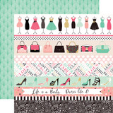 Fashionista: Border Strips 12x12 Patterned Paper