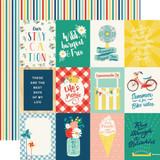 Good Day Sunshine: 3x4 Journaling Cards 12x12 Patterned Paper