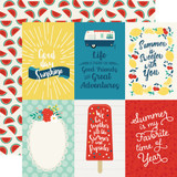 Good Day Sunshine: 4x6 Journaling Cards 12x12 Patterned Paper
