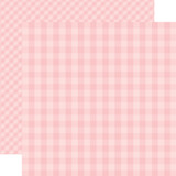 Dots & Stripes Gingham: Strawberry 12x12 Patterned Paper
